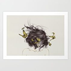 Art Print featuring Hair III by The White Deer