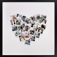 make a customizable framed heart collage