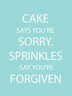 #Cake says you're sorry. Sprinkles say you're forgiven. http://prettybakesblog.com/rolling-pins/