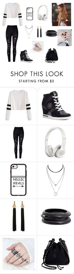 """""""Alison chap 4"""" by fashionista-gurl-4-you ❤ liked on Polyvore featuring Tommy Hilfiger, WithChic, Beats by Dr. Dre, Casetify, Yves Saint Laurent, ZENZii and Valentino"""