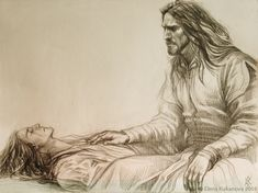 """The King of dunedain by EKukanova. Aranarth and wounded Helgon, illustration for fan-novell by Alwdis """"Uncrowned"""". Shadow Of Mordor, Fantasy Couples, Star Wars Episode Iv, Into The West, Art Prompts, Aboriginal Art, Middle Earth, Fantasy World, The Hobbit"""
