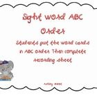 This packet includes (8) ABC Order Sight Word Literacy Centers!...
