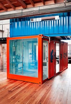Shipping Container Design, Pictures, Remodel, Decor and Ideas - page 5 Shipping Container Office, Shipping Container Design, Container House Design, Shipping Containers, Container Buildings, Container Architecture, Storage Container Homes, Storage Containers, Container Store