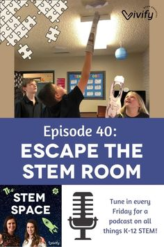 """In this episode of The STEM Space, Claire and Natasha are discussing Claire's """"Escape the STEM Room"""" challenge that she is teaching the first week of school, and the importance of introducing your students to difficult situations. From teamwork to public speaking and sharing what they've learned, tune in to learn more about Claire's plans to navigate this challenge and hopes to inspire educators everywhere! Fun Math Activities, Math Games For Kids, Teaching Tips, Learning Resources, Bridge Engineering, Breakout Boxes, Engineering Design Process, Hands On Learning, Public Speaking"""