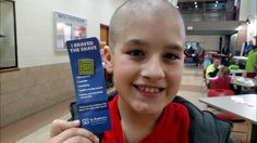 This St. Baldrick's participant is shaving their head to raise money for childhood cancer research and stand in solidarity with kids fighting cancer! Make a donation to support their fundraising efforts.