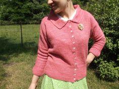 Ladies 100 WoolRetro HandknitCardiganFold Down by StZitasWorkshop, $450.00