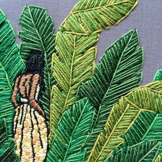 Sarah K. Contemporary Embroidery, Modern Embroidery, Embroidery Applique, Cross Stitch Embroidery, Embroidery Patterns, Textiles, Textile Prints, Textile Art, Hand Embroidery Projects