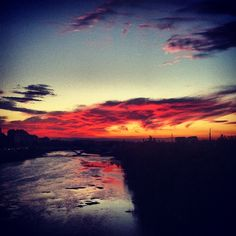 Zaragoza sunset
