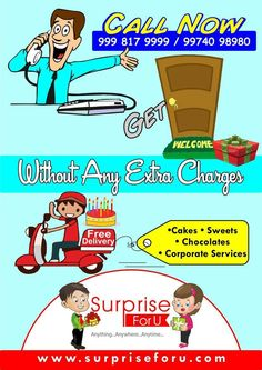#cakes #sweets #chococolates #corporateservices #freedelivery One stop for all occasions---> www.surpriseforu.com