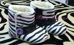 Hey, I found this really awesome Etsy listing at http://www.etsy.com/listing/89946783/zebra-baby-boots-crib-shoes-soft-sole