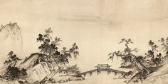 Xia Gui (夏珪, fl. 1180-1230), Song Dynasty  Handscroll, ink on paper, 46.5 x 889.1 cm  National Palace Museum, Taipei