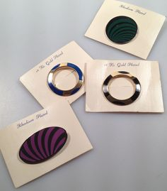 Set of 4 Vintage ENAMELED Pins Brooches from by thepopularjewelry, $10.00