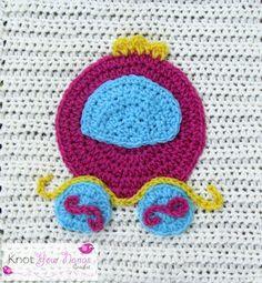 Crochet Princess Carriage Applique