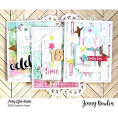 Repost from @prettylittlestudio on Instagram : Check out the blog to see the details on these three beautiful cards made by designer Jinny!     .     .     #prettylittlestudio #claudiavanritsyourbirthday #cardmaking #papercrafts