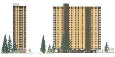 Projeto de cliente: Brock Commons, Vancouver, Canada | Dlubal Software