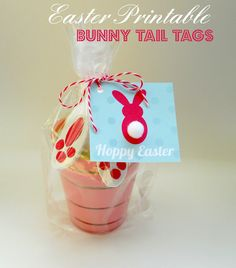 Delightfully Noted: Free Printable Bunny Tail Easter Tags