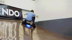 Six GIFs of Tony Hawk Dominating on a Real Hoverboard