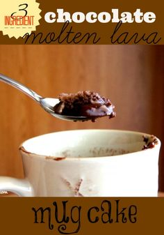 chocolate molten lava mug cake. Super simple, using a blend of store bought cake mixes and water.