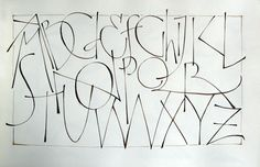 Annie Cicale (The Passionate Pen 2015 Calligraphy Conference) Pressurize-monoline.alphabet