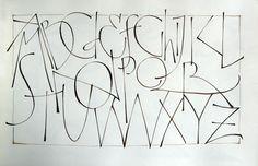Annie Cicale (The Passionate Pen 2015 Calligraphy Conference) Pressurize-monoline.alphabet