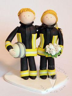 Feuerwehr Brautpaar von www.tortenfiguren.at - Weddingcake Topper