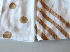 Simple DIY hostess gift: painted tea towels. Love this!