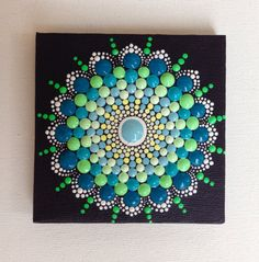 Original Small Mandala Painting on Canvas by CreateAndCherish