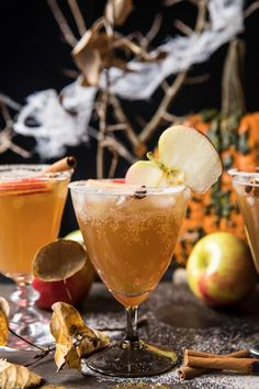 PHOTO: Haunted orchard cocktail from Half Baked Harvest. Cocktail Drinks, Fun Drinks, Yummy Drinks, Cocktail Recipes, Beverages, Cocktail Tequila, Fall Cocktails, Cider Cocktails, Tequila Drinks
