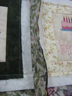 Quilt as you go. Backing folds to the front!