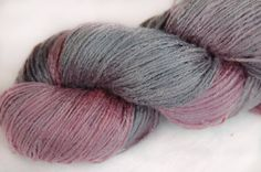 Organic 100% bamboo yarn Purple style vegan hand dyed by Klarabela