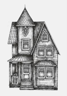 drawing sketch victorian easy houses drawings building deviantart draw sketches simple cool pen pages coloring pencil mansion haunted paintings barns