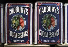 old tin packaging   vintage Cadburys Cocoa Essense tin