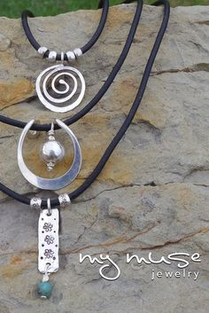 Hammered Silver Necklaces