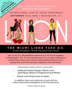 Join us for an unforgettable experience at the International Lion of Judah Conference! RSVP: