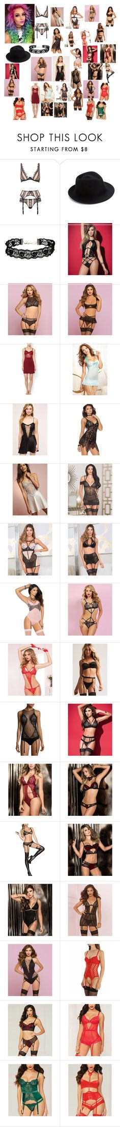 """""""What kimmie bought"""" by bandloverforever12 ❤ liked on Polyvore featuring Agent Provocateur, Eugenia Kim, ASOS, Mapalé, Seven 'til Midnight, Blush Lingerie, WithChic, Flora Nikrooz, Elegant Moments and iCollection"""