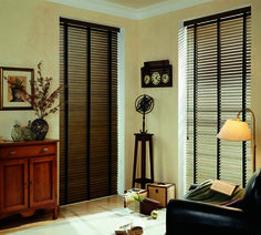 Distressed Wood Blinds with tapes are a great choice for functional accent pieces in any room. Energy efficient & available in a wide variety of colors.