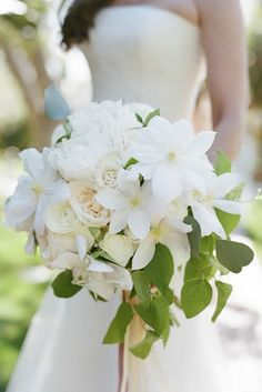 All White Wedding Bouquets Inspiration ★ See more: https://www.weddingforward.com/white-wedding-bouquets-inspiration/3