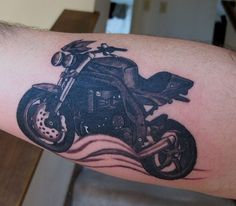 Triumph Speed Triple tattoo.