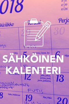 Sähköinen kalenteri pääkuva