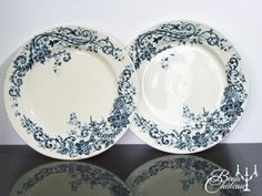 Antique French Pair of Ironstone by BeauChateauBoutique on Etsy