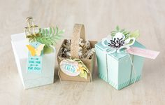 Pretty packages are easy to make with the Ready to Pop stamp set and the coordinating Popcorn Box thinlit. #stampinup