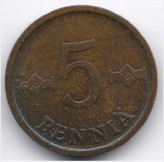 Finland 5 Penniä 1973 Veiling in de Finland,Europa (niet of voor €),Munten,Munten & Banknota's Categorie op eBid België
