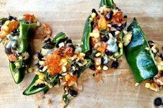 Spicy Stuffed Pablano Peppers