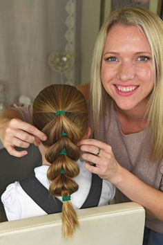 Beth says this hairstyle is ideal for sporty girls kids hairstyles Mum unveils five no-fuss hairstyles YOU can do on your girls before they go to school Girls Hairdos, Baby Girl Hairstyles, Trendy Hairstyles, Braided Hairstyles, Teenage Hairstyles, Hairstyles 2016, Short Haircuts, Childrens Hairstyles, Easy Little Girl Hairstyles