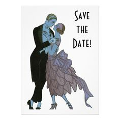 Vintage Art Deco Save the Date! Invites