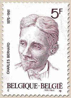 Belgian stamps Culture.Charles Bernard