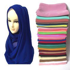High Quality Chiffon Muslim Hijab Scarf Shawl