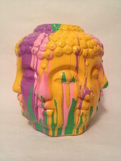 Loving this multicolored Buddha vase