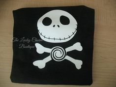jack skellington inspired shirt perfect for boys! message to order or visist our online store!