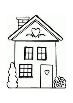 Afbeeldingsresultaat voor kleurplaat huis
